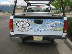 We wrapped this vehicle for 3 Men & A Shovel