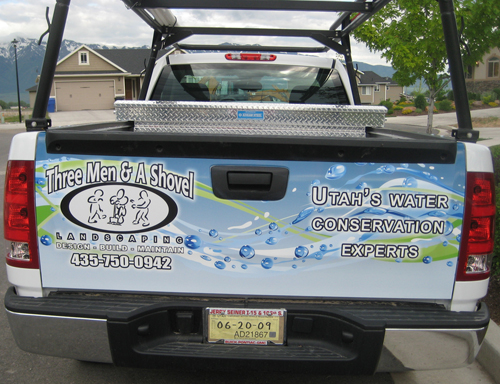 3/4 Vehicle Wrap for Three Men And A Shovel