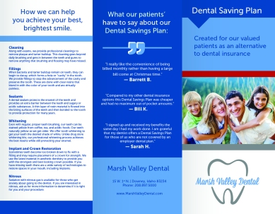 Brochure-3a-Marsh Valley Dental