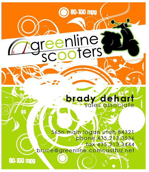 Business_Cards_Greenline_Scooters-Business_Cards-By_The_Image_Foundry