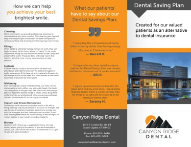 Canyon-Ridge-Dental-Brochure-p1
