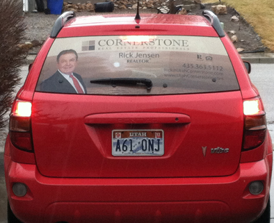 Rick Jensen of Cornerstone Real Estate wanted to be seen but not shouting. $96 plus Design