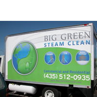 Vehicle_Graphics_Big_Green_Steam_Clean_The_Image_Foundry_Signs_Banners_Trade_Show_Graphics