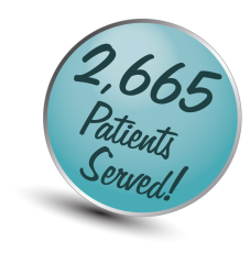 Callout showing number of patients served