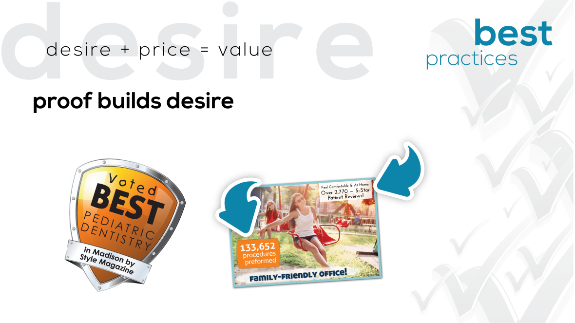 Desire + Price = Value - Proof Builds Desire