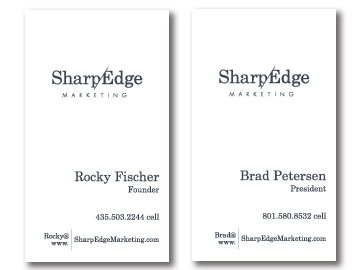 SharpEdge Business Card Back