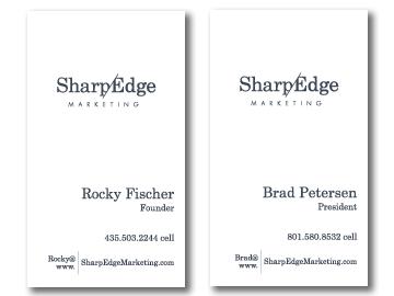 SharpEdge Business Card Back