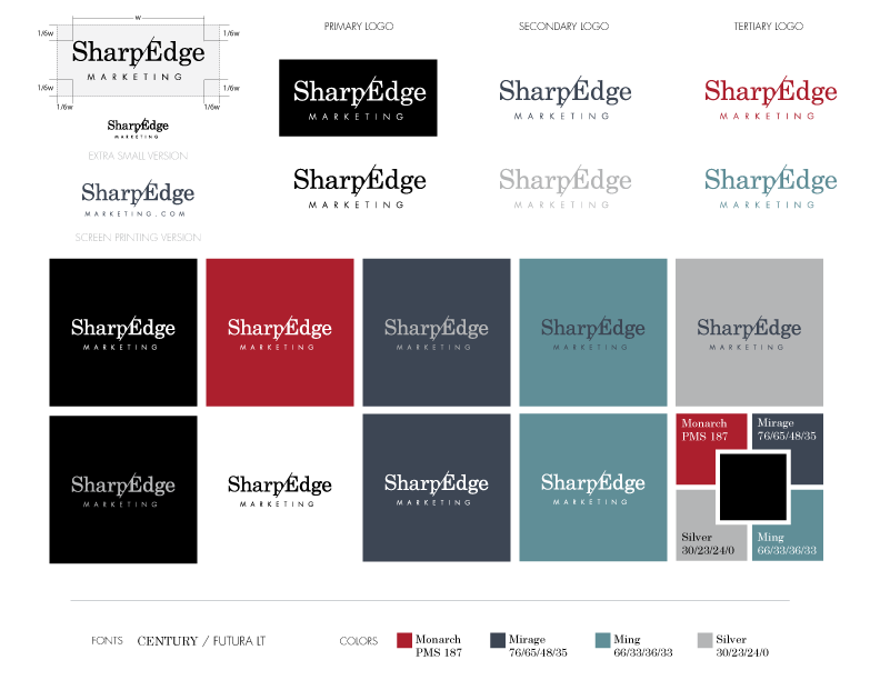SharpEdge Marketing Logo Style Guide