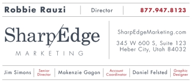 Email signature for SharpEdge Marketing