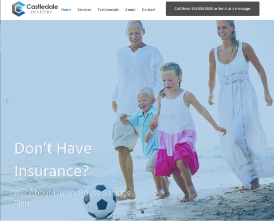 castledale-dental-website-screen-shot-1