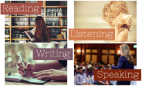 reading writing listening speaking meme
