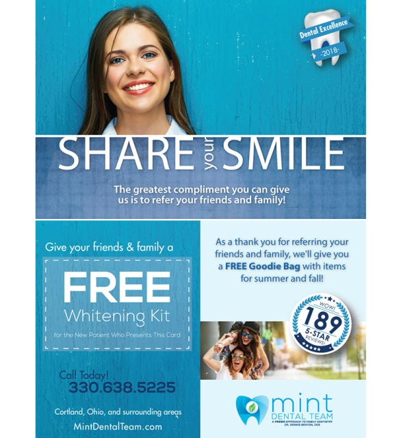 Handout-Card-Mint-Dental-Team-4x6